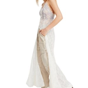 NWT Ivory Free People  Next to you Lace Maxi Dress